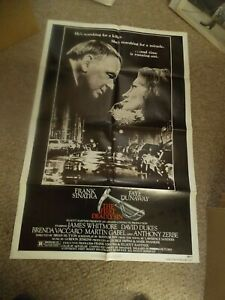 THE FIRST DEADLY SIN(1980)FRANK SINATRA ORIGINAL ONE SHEET POSTER NICE!