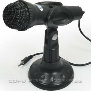 Laptop-Desktop-PC-Computer-Gaming-Mic-Microphone-With-Stand