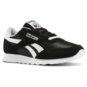 891e580e6afd Image is loading Reebok-Royal-Nylon-Classic-BLACK-White-BD1553-Casual-