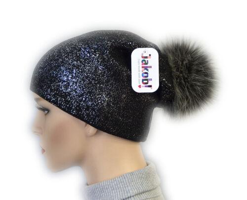 Mütze Damenmütze Wintermütze Kunstfell Mütze Bommelmütze Fellmütze