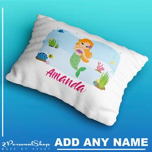 Personalised-Mermaid-Pillowcase-Printed-Children-Gift-Custom-Print-New