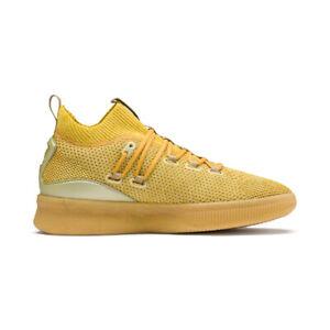 Puma Men's Clyde Court Title Run Metallic Gold Sneakers 19289801 NEW!