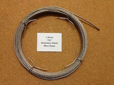 1.8mm x 10m Stainless Steel Wire Rope  7/7  49 Strand 18/8 304 INOX Surgical