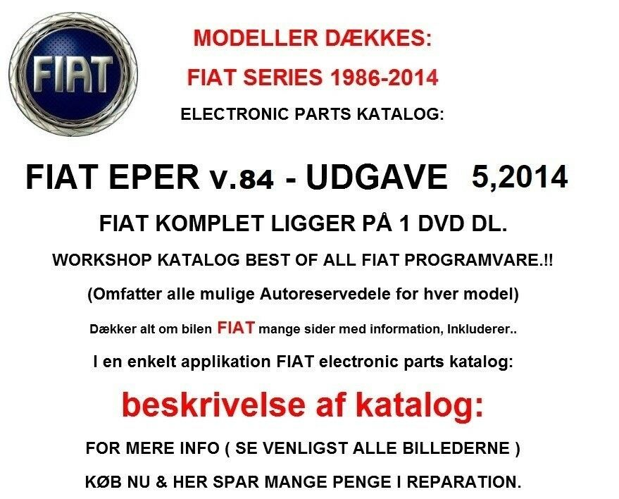 FIAT EPER Del Katalog 2014, Fiat EPER Reservedelskatalog
