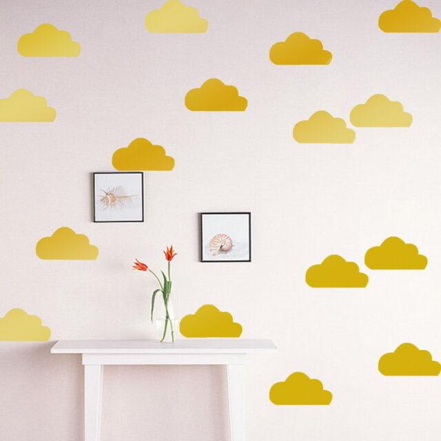 FP Sticker Autocollant Mural Nuage Vinyl Amovible Décorat Enfant Bébé Chambre