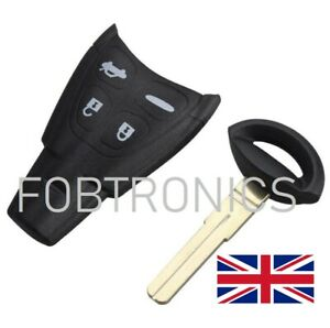 NEW-4-Button-Key-Fob-Case-For-SAAB-93-95-9-3-9-5-WITH-BLADE-LOGO-A79