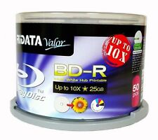100-PK 10X Ridata White Inkjet Hub Printable Blu-Ray BD-R Blank Disc 25GB