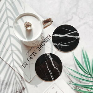 Tischset-Untersetzer-Teetasse-Keramik-Mat-AntiRutsch-Marmor-Muster-Untersetzer-P
