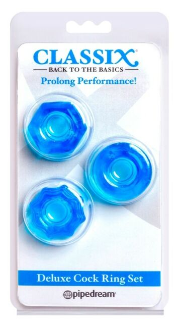 Pipedream Classix Deluxe Cock Ring Set Blue Pipedream Products