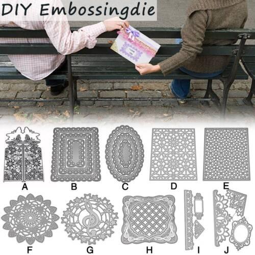 Metal Cutting Dies Stencil Floral Frame Paper Card Embossing Craft DIY Die-Cut