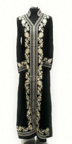 velours de en brodée longue luxe Kaftanjilbab Abaya Robe maxi Robe marocaine E9Y2HWID