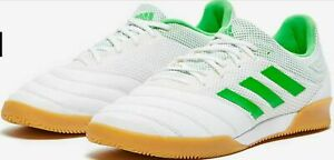 Adidas-Copa-19-3-In-Sala-white-green-Indoor-Soccer-Shoes-BC0559-Men-039-s-SZ-9