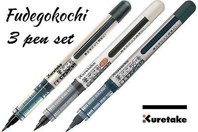 Japanese Brush Pen Fine Nib Kuretake Fudegokochi Black