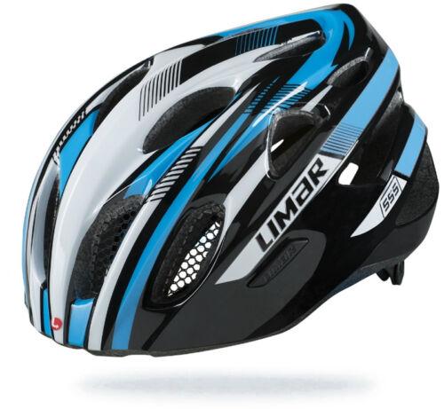 Limar 555 Road Bike Helmet Black/White/Blue
