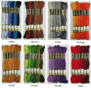 6-x-Anchor-Stranded-Cotton-Embroidery-Thread-Floss-Skeins-Family-Colours