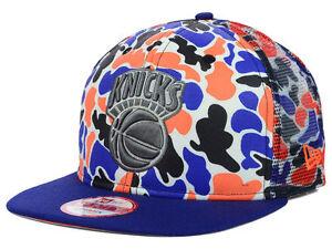 NEW YORK KNICKS NBA NEW ERA 9FIFTY CAMO FACE SNAPBACK HAT CAP M L ... d50a7112ff5