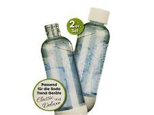 Soda Trend 07782 Ersatzflaschen 720 ml für Deluxe Wassersprudler 2 Flaschen Glas