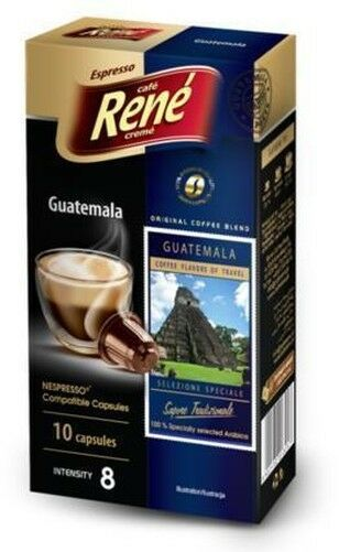 Café Rene Nespresso Compatible Capsules - Guatemala 10 Capsules