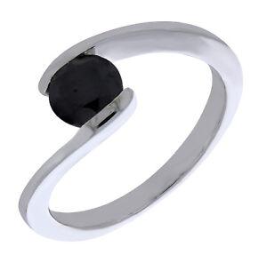 Prism Jewel 0.50 Carat Round Brilliant Cut Bezel Set Black Diamond Solitaire Pendant Rose Gold Plated Silver