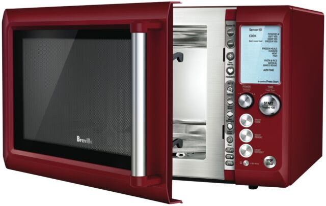 Breville BMO735CRN 34L 1100W Cranberry Red Microwave NEW