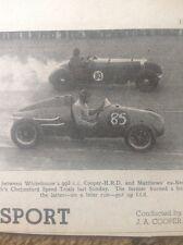 ephemera Picture 1950 Motor Racing Whitehouse Matthew West Essex Car Club Chelms