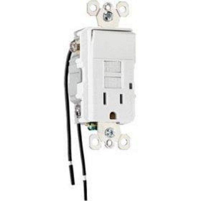 P/&S Pass /& Seymour GFCI LED 15 Amp 1595-NTLLACC4 Light Almond 15A-125V GFI