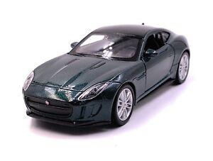 JAGUAR-Jag-F-Type-modello-di-auto-auto-verde-scala-1-34-concesso-in-licenza