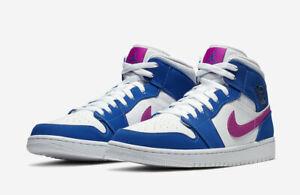 Nike Men's Air Jordan Retro I 1 Mid Hyper Royal Violet White ...
