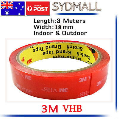 3M VHB Double-sided Clear Transparent Acrylic Adhesive Tape 10mmX3m OZ