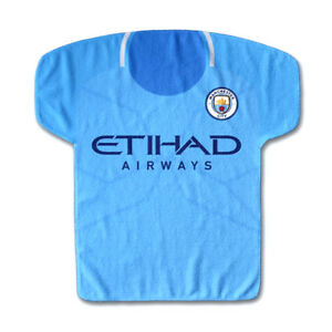 MANCHESTER CITY FC KIT SHAPED MULTI PURPOSE TOWEL FOR FACE HAND GYM ... 89e00c8fb5a2