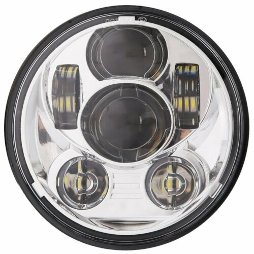 """5.75/"""" LED Chrome Headlight Round For Harley Dyna Wide Glide FXDWG//Low Rider"""