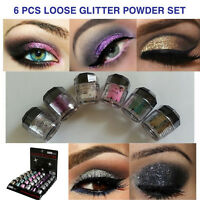 Beauty Treats 6 NEW Eye shadow Color Makeup PRO GLITTER Eyeshadow PALETTE