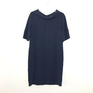 Brooks Brothers Women Navy Blue Short Sleeve Shift Dress size 6 CN