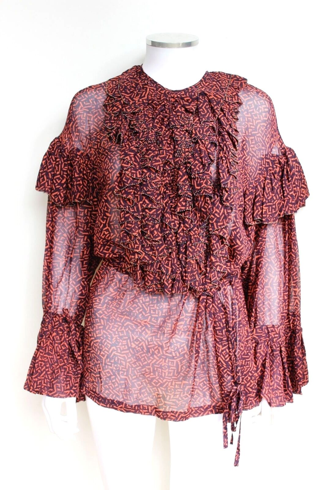 DRIES VAN NOTEN Cheyanne ruffled cotton blouse F42