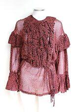 DRIES VAN NOTEN Cheyanne ruffled cotton blouse F42 UK 12-14