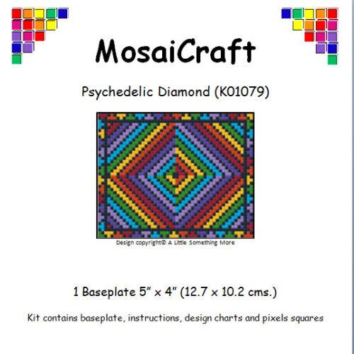 MosaiCraft Pixel Craft Art Kit /'Psychedelic Diamond/' Pixelhobby
