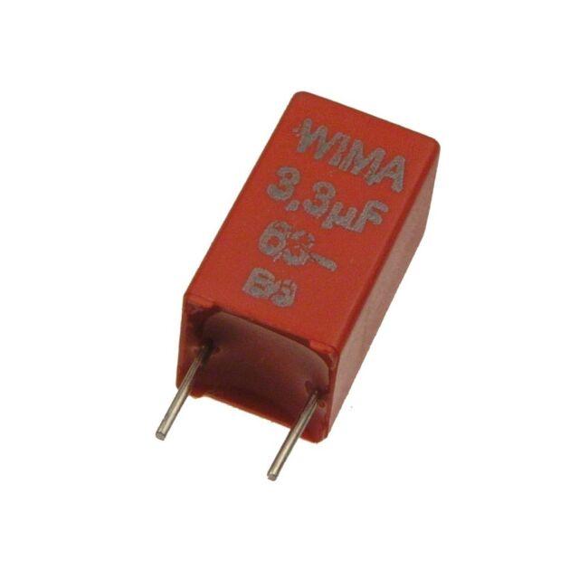 10 WIMA metallisierter poliestere canalizzatore mks2 5/% 63v 0,033uf 5mm 030863