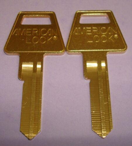 Lot of  2 USA American Lock Original 6 PIN KEY BLANKS 2 UNCUT KEY BLANKS