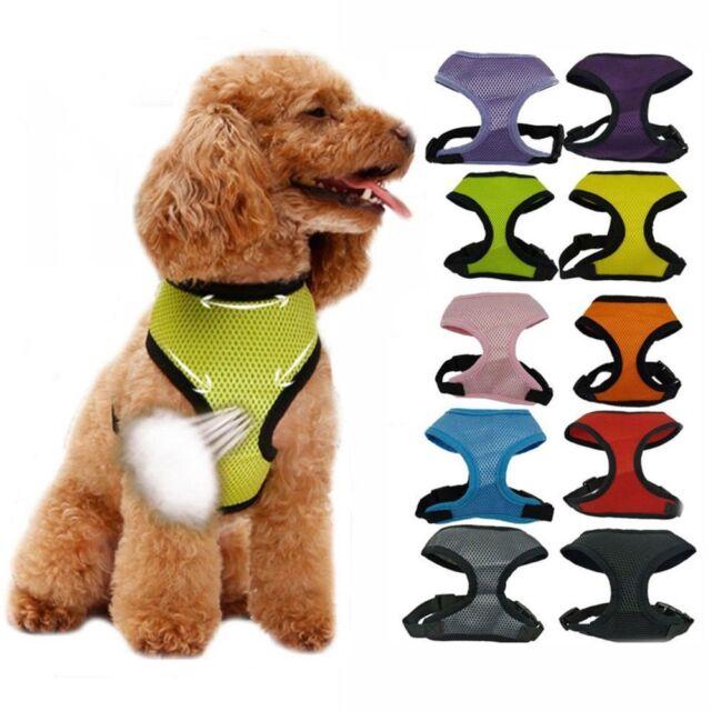 Nylon Pet Puppy Soft Mesh Dog Harness Strap Vest Collar For Small Medium Proper