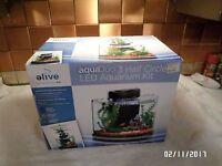 Elive Aquaduo Semi Circle Glass Aquarium Kit - (3 Gallon) Glass Fish Tank