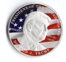 Donald Trump Silver Coin United States President US Flag Eagle Obama Americana
