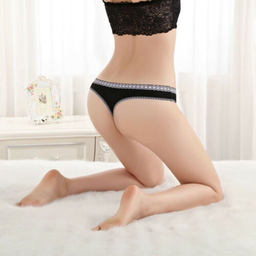 3 5 10 Pcs Lot Womens Comfort Cotton Thongs Panties V-Back G-string Underwear