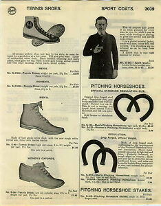 1936 PAPER AD Diamond Official Pitching Horseshoes Double Blue Ringer
