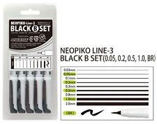Deleter Neopiko-Line-3 Black 5 Pen Set B Professional Art Supplies Manga NEW