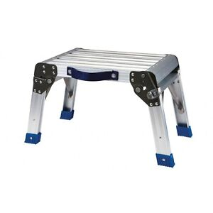 Step Stool Working Platform Supports 350 Lb Foldable Home