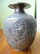 antic vase argent 84  ,ottoman,iznik  Ancien in solid silver. 142 Gr