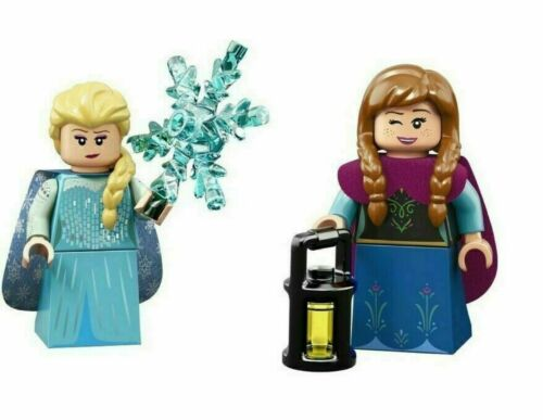 FREE S//H Frozen/'s Elsa and Anna Set of 2 LEGO Disney Minifigures Series 2