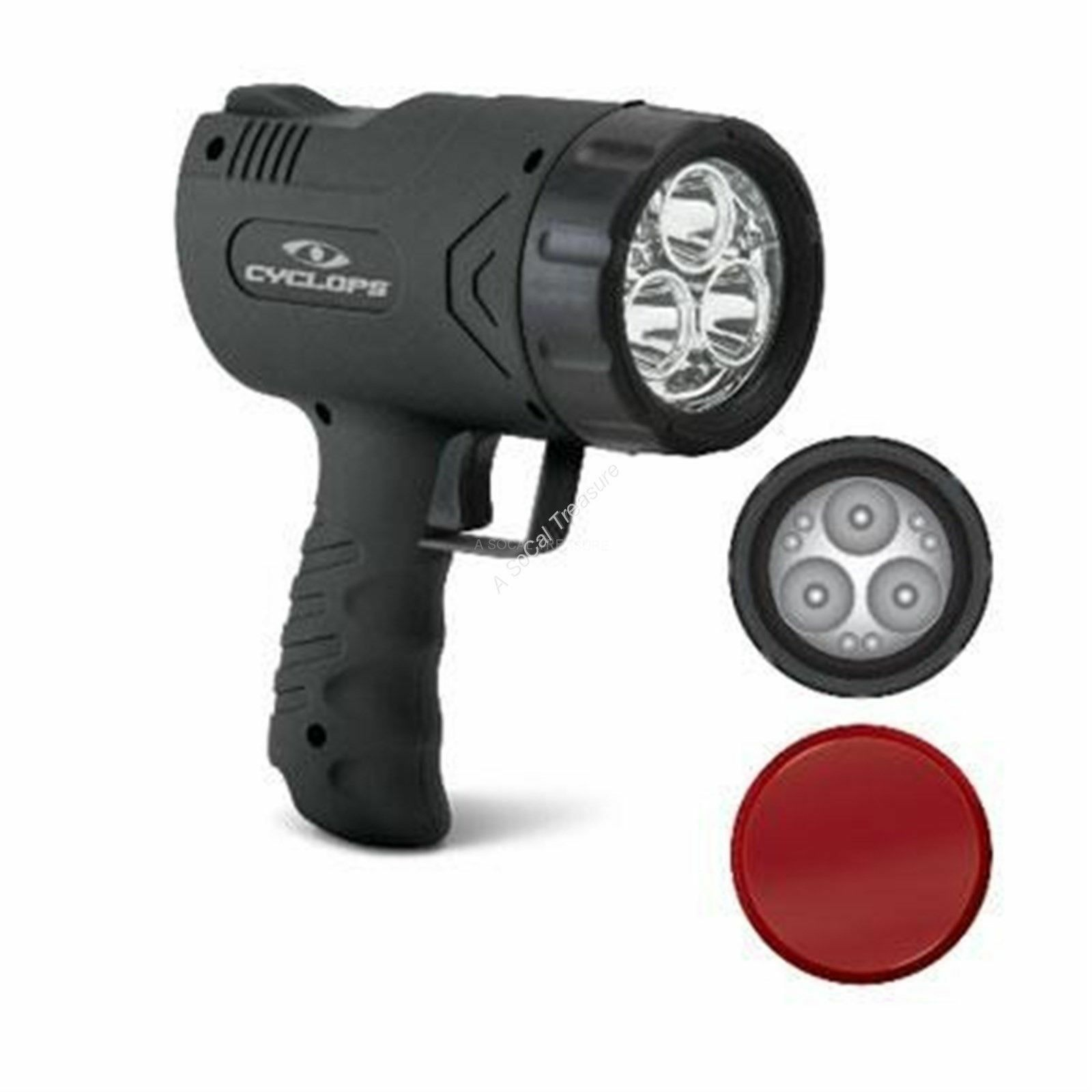LED Hunting Spotlight Rechargeable 1100 Lumen Handheld Cyclops  Revo Luxeon ACDC  with 100% quality and %100 service