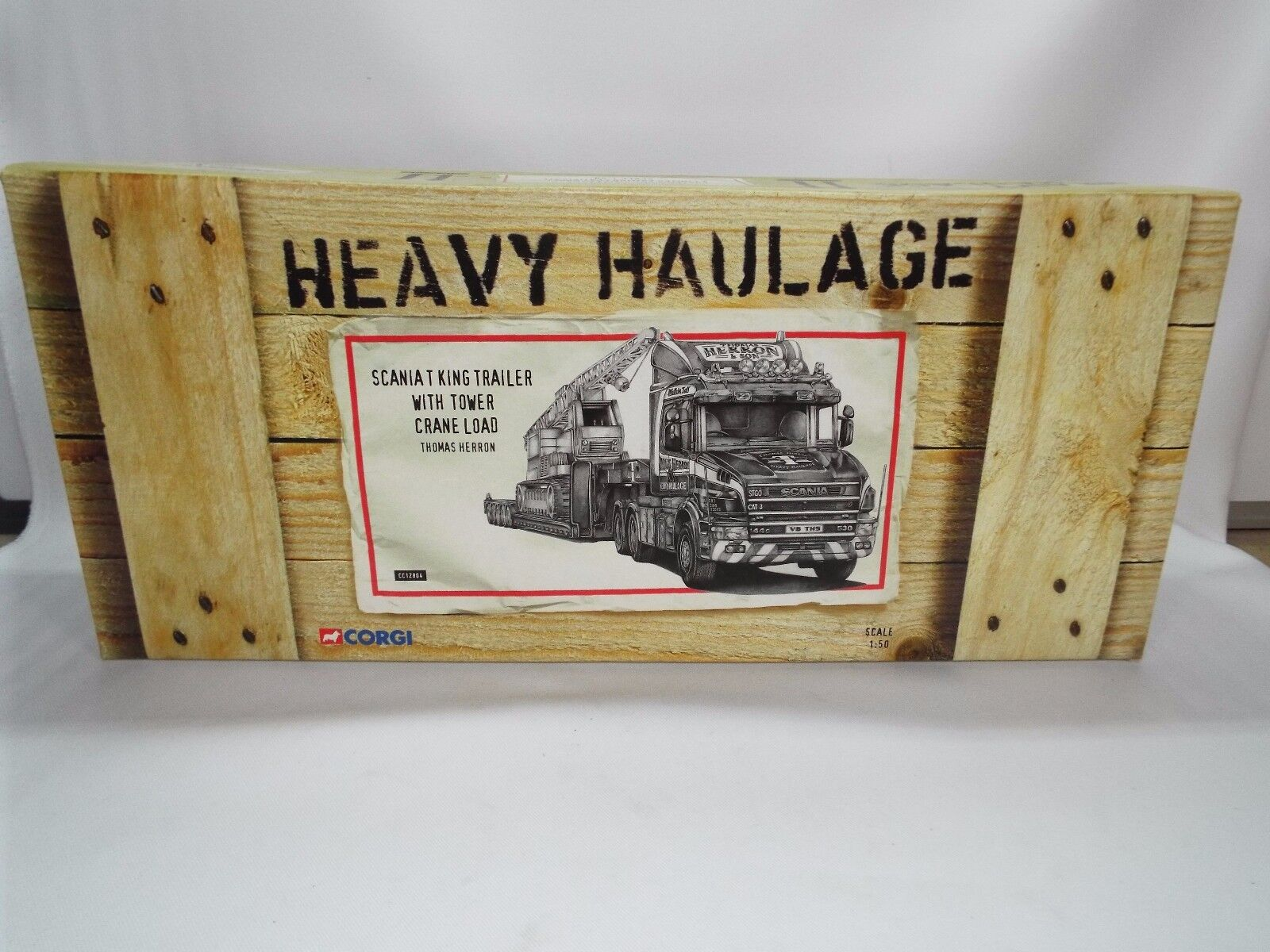Corgi Heavy Haulage No 12804 Thomas Herron Set Scania T and crane New