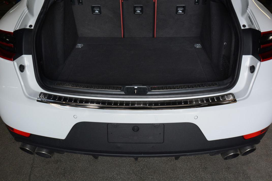Graphite Stainless Steel Rear Bumper Protector Guard ZIC Motorsports 2014-2017 Porsche Macan
